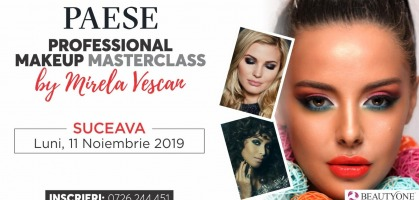 Professional Masterclass Make-up by Mirela Vescan- 11 noiembrie 2019