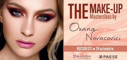 24 octombrie - Bucuresti: Masterclass Professional Make-Up by Oxana Novacovici