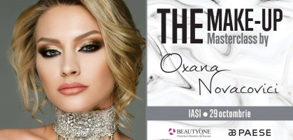 29 octombrie - Iasi: Masterclass Professional Make-Up by Oxana Novacovici