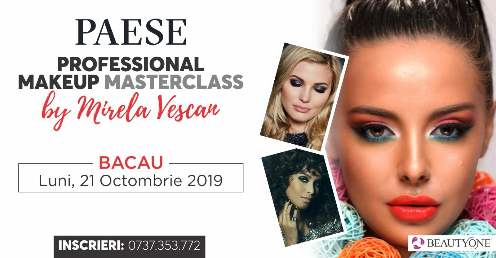 Professional Masterclass Make-up by Mirela Vescan- 21 octombrie 2019