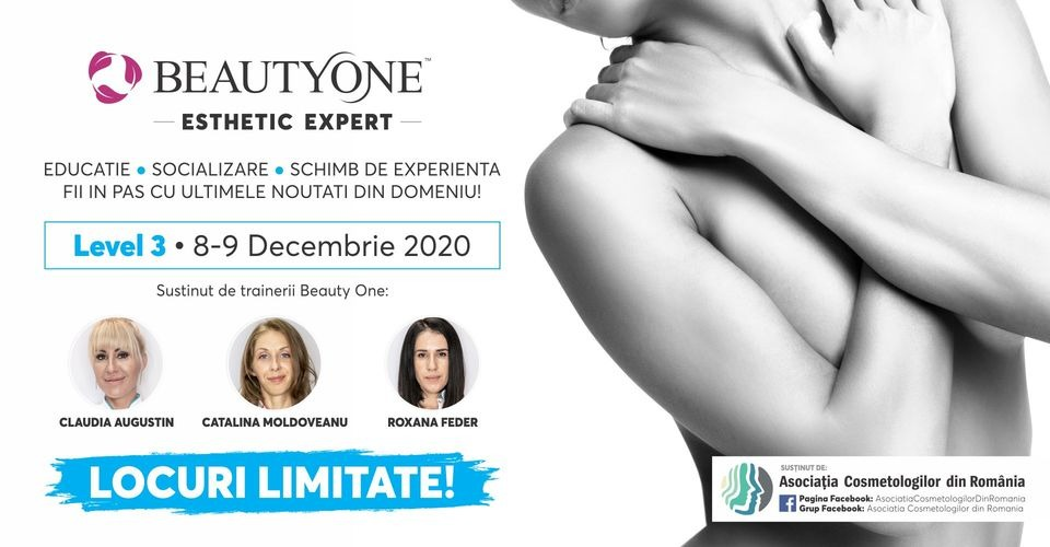 Beauty One Esthetic Expert - Level 3 stabilit pe data de 8 decembrie 2020